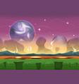 fantasy sci-fi alien landscape for ui game vector image vector image