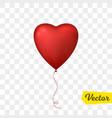 flying heart shaped balloon vector image