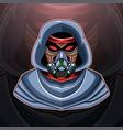 gas mask esport mascot logo vector image