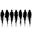 girls set silhouettes vector image