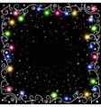 glowing Christmas garland vector image vector image