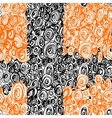Hand Drawn Scribble Circles seamless pattern vector image vector image