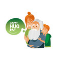 happy hug day banner with vector image