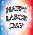 happy labor day america banner 2 vector image vector image