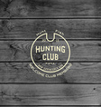 Hunting club badges logos and labels for any use vector image vector image