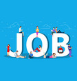 job search recruitment hiring vector image vector image