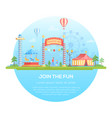 join the fun - modern flat design style vector image vector image