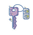 key door to security and protection design vector image