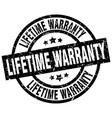 lifetime warranty round grunge black stamp vector image