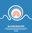 Lungs sign Blue and white abstract background vector image