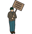 Man on strike vector image vector image