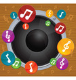 music concept - dynamic with bright notes vector image