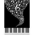 Music splash background vector image