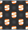 scary halloween seamless pattern background vector image