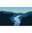 Scenery river in cliff vector image vector image
