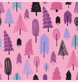 seamless pattern of winter forest vector image vector image
