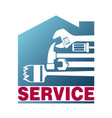 service for house sign vector image vector image