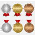 set award medals transparent background vector image