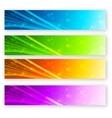 set color banner vector image vector image