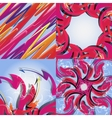 Set of abstract rainbow colored backgrounds with vector image vector image
