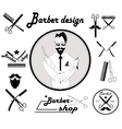Set of vintage barber shop design vector image vector image