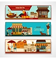 Shops Banner Set vector image