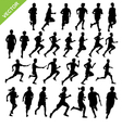 Silhouettes running vector image