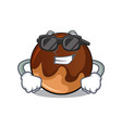super cool chocolate donut character cartoon vector image