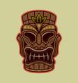 tiki hawaiian tribal wooden mask vector image