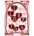 Vintage Love Greeting Card vector image vector image