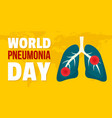 world pneumonia day banner horizontal flat style vector image vector image