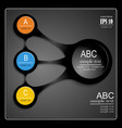 infographics on a black background vector image