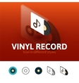 Vinyl record icon in different style vector image