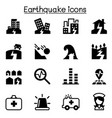 earthquake icon set vector image