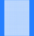 graph paper with grid cyan color on a4 sheet size vector image