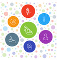7 worker icons vector image vector image