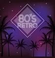 80s retro style word vector image vector image