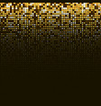 abstract golden halftone background vector image vector image