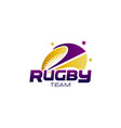 abstract rugby team logo symbol concept vector image
