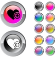 Add to vavorite multicolor round button vector image vector image