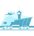 airport transfer icon taxi service from airport vector image