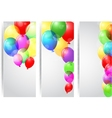 Birthday celebration banner with colorful balloons vector image