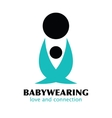 Black and Blue Babywearing Symbol With