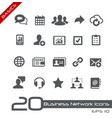 business network icons - basics vector image
