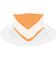 Cake slice plate vector image