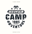 Camping badge vector image vector image