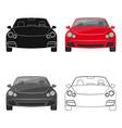 car single icon in cartoonoutlineblack style for vector image vector image