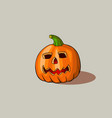 carved pumpkin for halloween design vector image