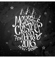 Christmas Calligraphic Text vector image