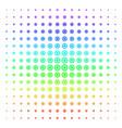 cogwheel icon halftone spectrum effect vector image